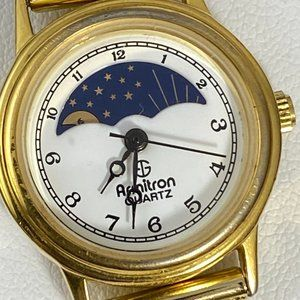 Vintage Armitron Moon Phase Watch Stars and Sun